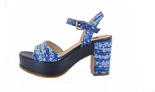 Zinda 2097, Sandali donna, Blu (80 Blue), 41