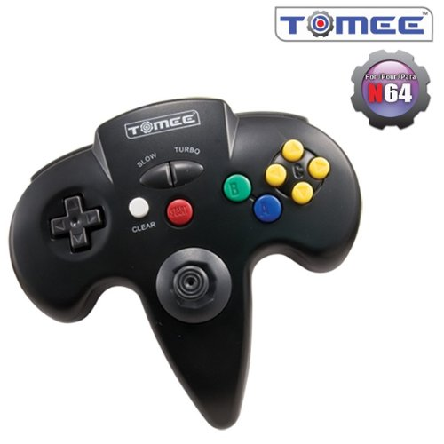 Tomee N64 Controller with Turbo Function Brand New (Black)
