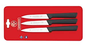 Mundial SC0547-4 4-Inch Spear Point Paring Knife Collection, Set of 3, Black