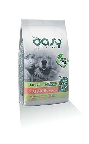 Crocchette Cane Adulto Monoproteico Oasy One Dog Salmone 2 x 2,5kg