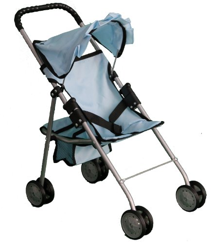 Mommy & Me My First Doll Stroller Sky Blue 9318 front-126129
