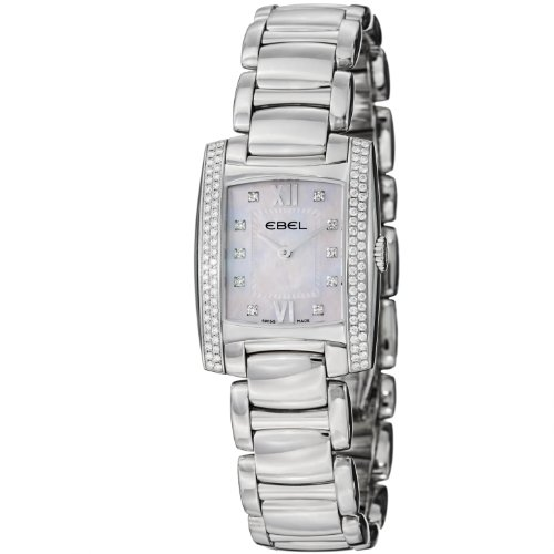 Ebel Brasilia Ladies Stainless Steel Diamond Watch 9976M28/9830500