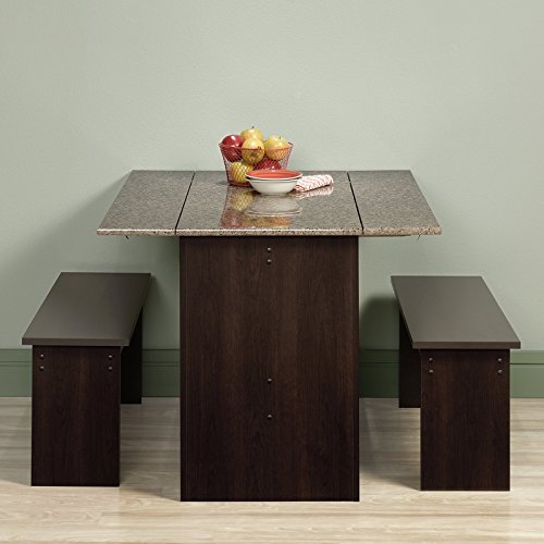 Sauder-Beginnings-Trestle-Table-with-Benches-Cinnamon-Cherry
