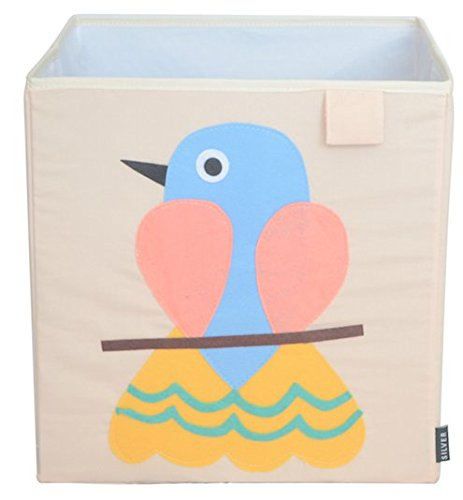 Find Bargain Toy Storage Box Bin Organizer Collapsible, Bird- 100% Money Back Guarantee