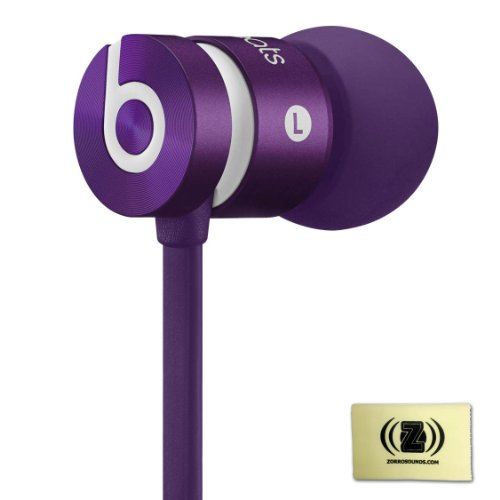 Beats By Dr. Dre Urbeats In-Ear Headphones Drenched In Purple Bundle With Custom Design Zorro Sounds Cleaning Cloth