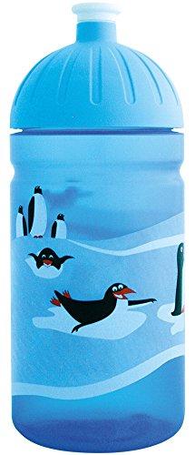 ISYbe-Die-schadstofffreie-auslaufsichere-Trinkflasche-ohne-Weichmacher-Blautransparent-Pinguin-05-Liter