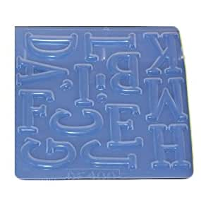 Amazoncom large alphabet letters reusable plastic mold for Large plastic alphabet letters