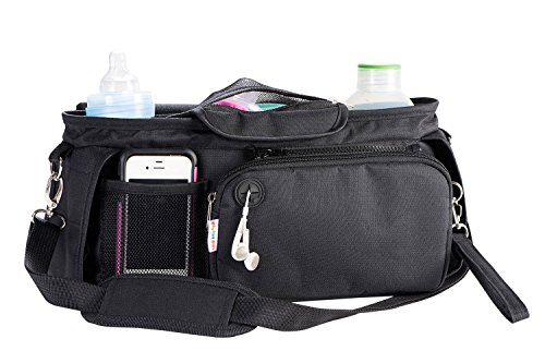 6 in 1 Universal Stroller Organizer Bag by Tinoki Kids - with Diaper Changing Mat, Detachable Mesh Bag