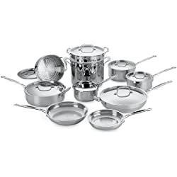 Cuisinart Chef's Classic Stainless 17-Piece Cookware Set + $30 Kohls Cash