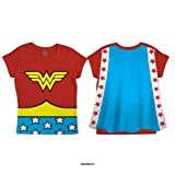 Dc Comics Girls Wonder Woman Toddlers Cape T-Shirt
