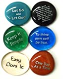 Recovery Glass Stones, Set I, Set of 6