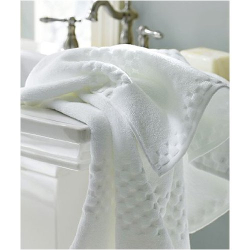 Luxor Linens Valentino White Luxury Bath Towels 18 Piece Set Egyptian Cotton (6 bath towels, 6 hand, and 6 wash)