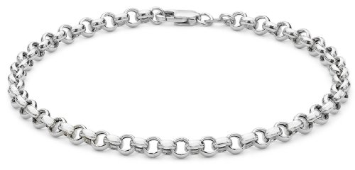 9ct White Gold Belcher Bracelet 18cm/7