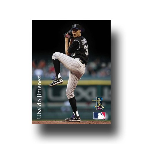 MLB Colorado Rockies Artissimo Ubaldo Jimenez 8 x 10 Canvas
