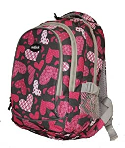 Small 15L Rucksack School Daypack Childrens Backpack Hearts 12 PIECES PER BOX UNIT HEARTS