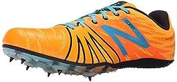 New Balance USD100V1 Track Spike Shoe, Orange/Blue, 6.5 D US