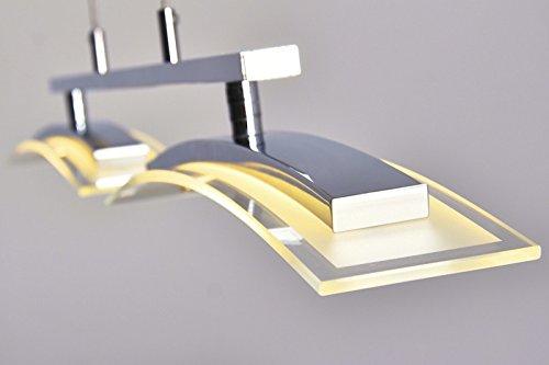 wohnzimmerlampen dimmbar:LED Hängeleuchte Tarumo 2 x 8 Watt – 1.400 Lumen 3000 Kelvin