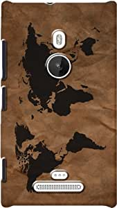 DailyObjects Wrinkled World Map Case For Nokia Lumia 925 (Back Cover)