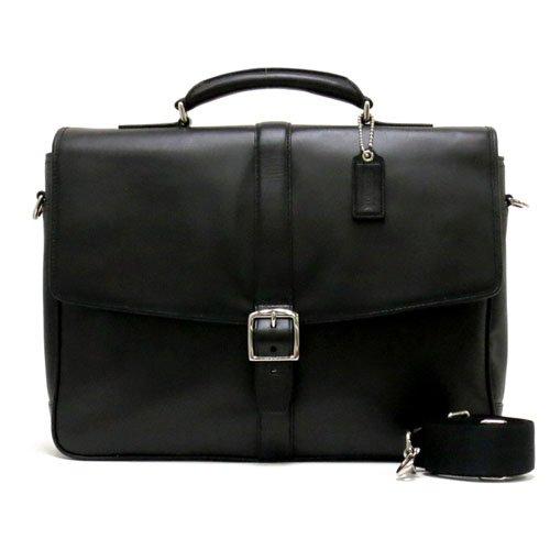 [コーチ] COACH バッグ(ビジネスバッグ) F71073 ブラック レキシントン レザー フラップ ブリーフケース メンズ レディース [アウトレット品] [ブランド] [並行輸入品]