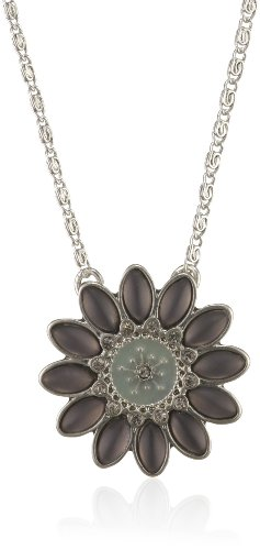 Pilgrim Flashy Flower 38 Centimeters Brass Necklace With Pendant