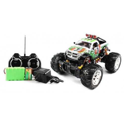 Big Size QUALITY Electric Full Function 1:16 Dodge RAM 2500 Monster RTR RC Truck (Colors MAy Vary) QUALITY Remote Control RC Trucks w/ Working Suspension