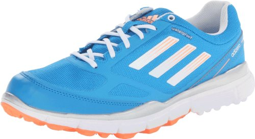 Adidas Women's Adizero Sport II Golf Shoe ,Solar Blue/White/Glow Orange,8.5 M US