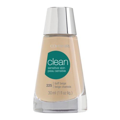 CoverGirl Clean Sensitive Skin Liquid Makeup, Buff Beige (W) 225, 1.0-Ounce Bottles (Pack of 2)