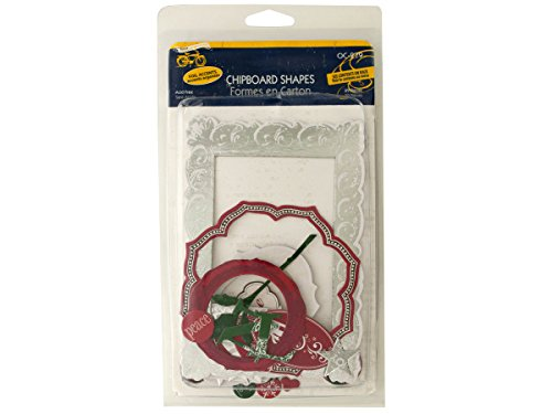 bulk buys Christmas Chipboard Shapes with Foil Accents - 1