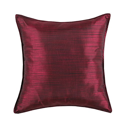 Find Discount Euphoria CaliTime Cushion Covers Pillows Shell Light Weight Dyed Stripes Burgundy Colo...