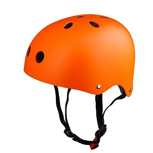 Kinder Skateboarder Helm Fahrradhelm Unisex Verstellbar Schutzhelm für Junge Mädchen Skate BMX Fahrrad Roller Sport