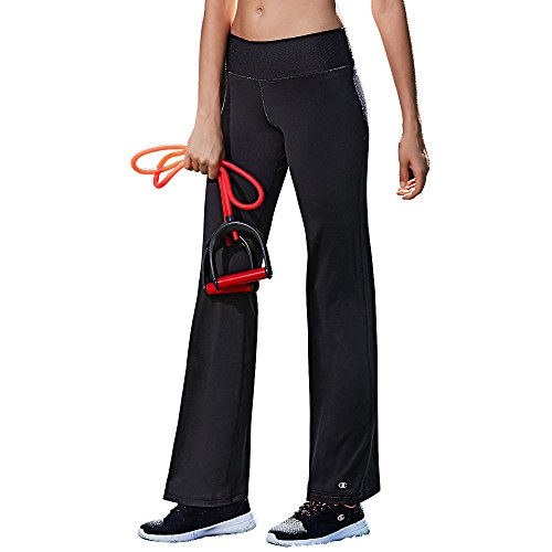 Champion Women's Absolute Semi-Fit Pant with Smoothtec Waistband, Black, X-Large