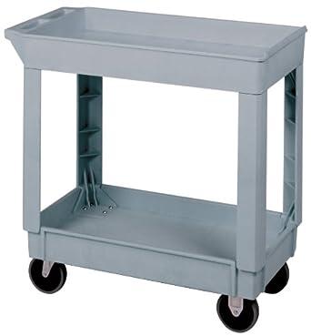 All purpose lab cart 34 3 8 quot x 17 1 2 quot x 33 quot size 5 quot rubber casters