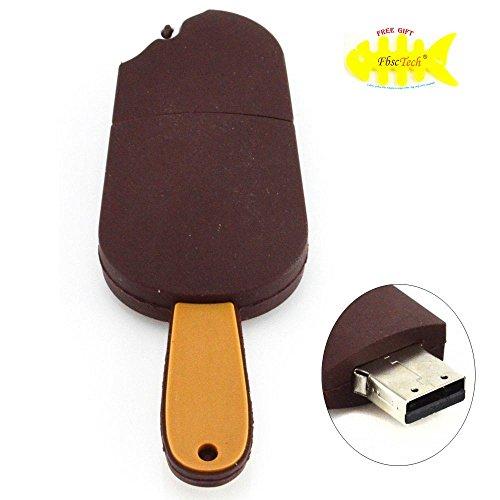 FbscTech(TM) 16GB USB 2.0 Flash Drive sveglio del cioccolato Ice Cream Memory Stick (Caffè -2)