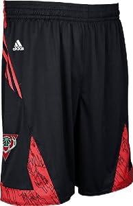 Milwaukee Bucks Black NBA Pre-Game Authentic Basketball Shorts by Adidas by adidas