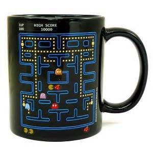 Tazze, Cozyswan tazza caffe' Acqua Latte modello magico sensibile al calore Cambia colore - Pacman
