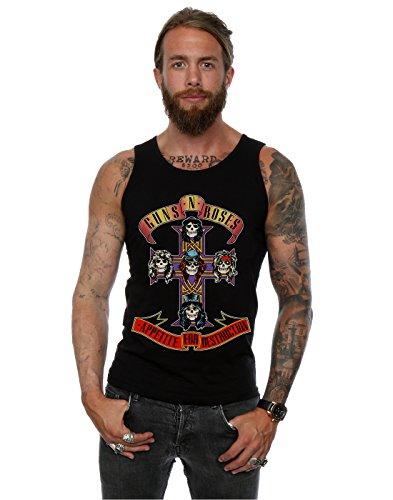 Guns N Roses Uomo Appetite For Destruction Canotta, Medium,Nero, Large,Nero