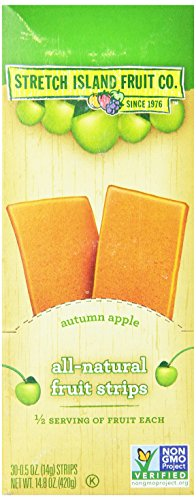 Stretch Island All-Natural Autumn Apple Fruit Strips, 0.5-Ounce Bars (Pack of 30) (Fruit Strips Subscribe And Save compare prices)