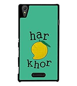 Haram Khor 2D Hard Polycarbonate Designer Back Case Cover for Sony Xperia T3