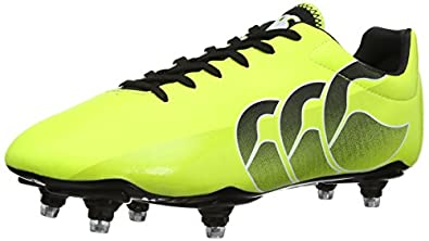 Canterbury Men's Speed Club 6 Stud Rugby Boots E22314 - T05 Sulphur Spring/Black 8 UK, 42 EU