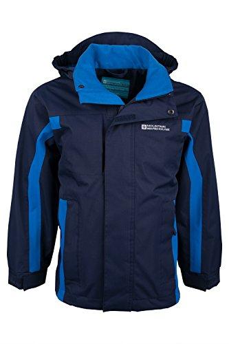 Mountain Warehouse Kinder Samson Kapuze Wasserdichte Nähte Jacke Regen Mantel Marineblau 152 -