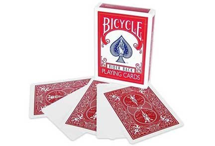 Bicicletta vuoto faccia posteriore rosso Magic carte da gioco Bicycle Blank Face Red Back Magic Playing Cards