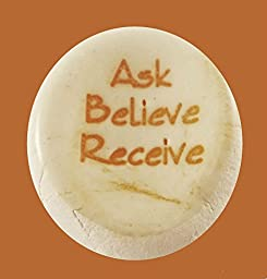 Ask Believe Receive Ceramic Stones Handmade Words And Phrases - Words