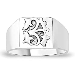 Taraash Divine 925 Sterling Silver Finger Ring For Men FR0710A9