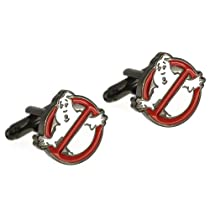 White and Red Ghostbusters Cufflinks