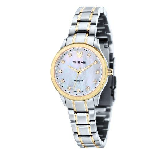 Swiss Eagle SE-6047-66 Ladies Akilina Silver Steel Bracelet Watch