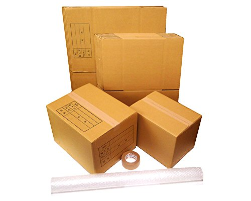 ダンボール 引越しセット:ダンボール箱(大・小)15枚、プチプチ、クラフトテープ ZH07