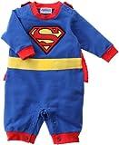 スーパーマン マント付きカバーオール 80cm ブルー 210904