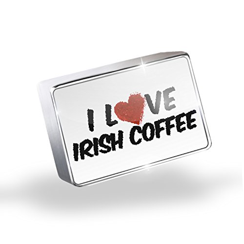 Floating Charms I Love Irish Coffee Cocktail Fits Glass Lockets, Neonblond