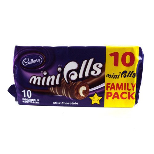 Cadburys Chocolate Mini Rolls 10 Pack 280g