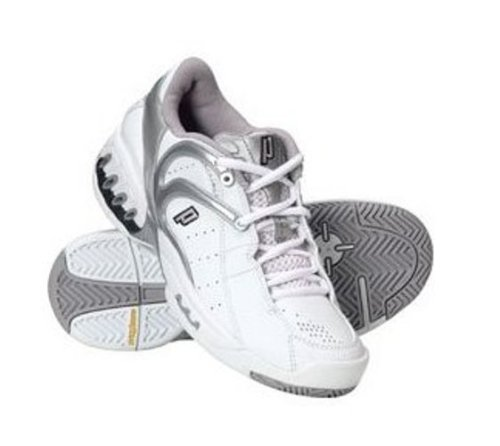 Prince Tennis Footwear, Scarpe da tennis Donna, Bianco (Blanc / Vert), 37,5